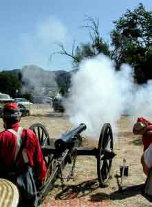 Cannon Firing at Los Alamos Old Days