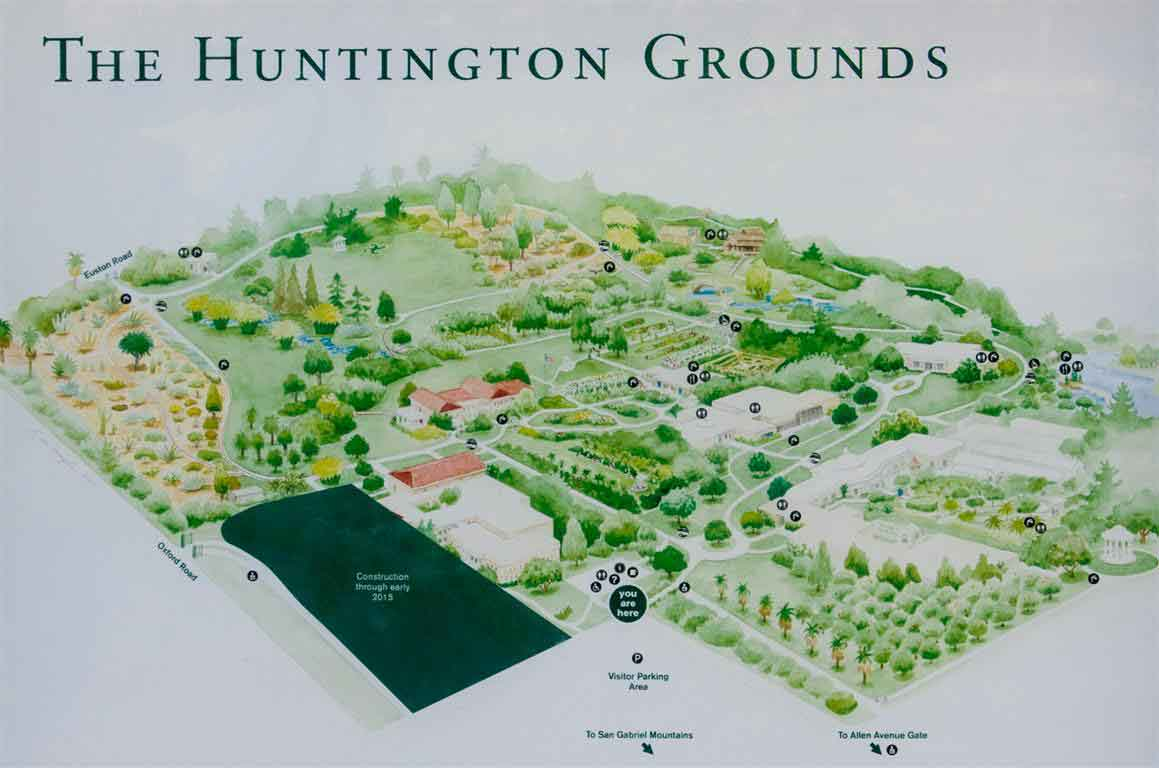 Huntington Library 01 Grounds Map