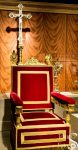 Papal Throne of Pius XI and Altar Cross