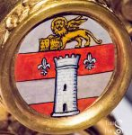 Barrel with Coat of Arms of Pope Saint John XXIII Detail