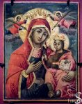 Mary with Infant Jesus and Arabic Gospel