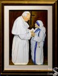 Portrait of Saint John Paul II and Blessed Mother Teresa